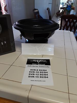 Pair of skar audio subs 12's.. 800watts rms each for Sale in Dinuba, CA
