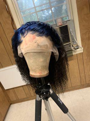 BLUE/BLACK KINKY WIG for Sale in Hampton, VA