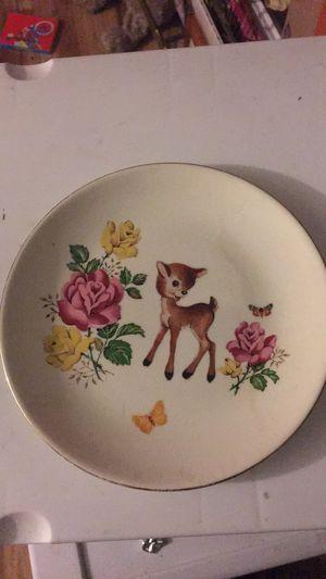 Upcycled vintage deer tea party plate for Sale in Rockville, MD