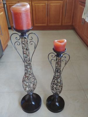 Candle holder pair Bird Rd 117 Ave for Sale in Miami, FL