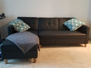 L shape sectional turns into a futon. $450 or best offer for Sale in West Palm Beach, FL