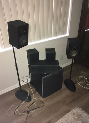 Dolby 5.1 Surround sound speakers, powered subwoofer , KLH and Polk Audio for Sale in Peoria, AZ