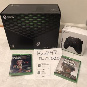Xbox Series X Video Game System Console With Nba 2k21 Call Of Duty Controller 3 Month Game Pass Etc Bundle All New Not Separating for Sale in Burtonsville, MD