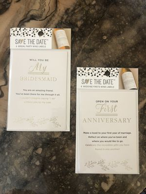 Wedding Wine Labels - 2 sets of 6 for Sale in Lake Milton, OH