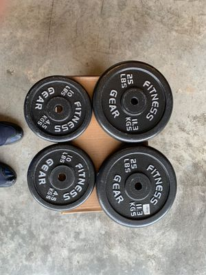 Weight plates, 70 lbs total for Sale in Jessup, MD