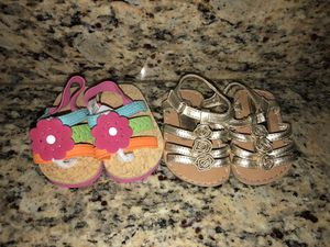 Newborn infant sandals, size 1 and 2 for Sale in Tempe, AZ