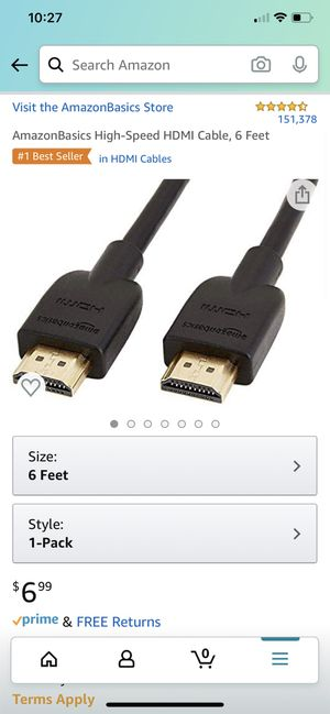 HDMI Cable for Sale in Bellevue, WA