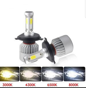 2pcs LED Headlight Bulbs Light All In Auto Lighting for Sale in DORCHESTR CTR, MA