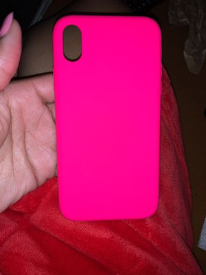 Xr neon pink iPhone case !!!! Brand new for Sale in Glenolden, PA