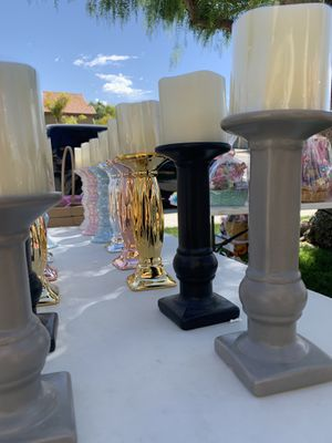 Candle holder and candle set for Sale in Hemet, CA
