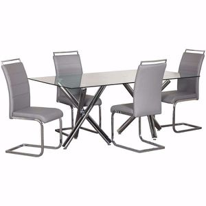 Glass table with 4 chairs for Sale in Aurora, CO