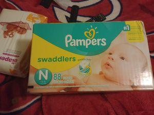 Pampers swaddlers Newborn and bonus pack for Sale in Manassas Park, VA