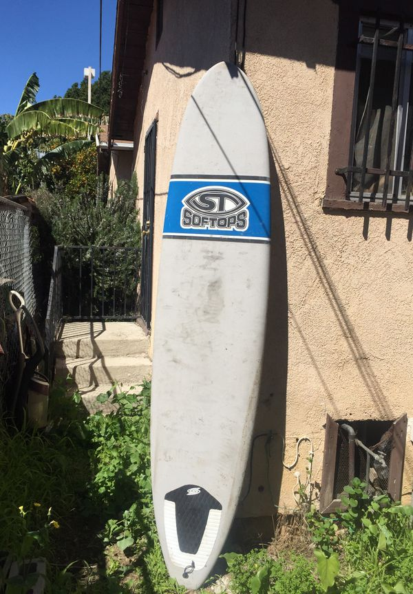 """Soft Top Surfboard Longboard in Good Condition 8, 6"""" Perfect for beginners, Catch waves Easily"""