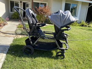 Double Stroller - Peg Perego Duette Piroet in Atmosphere for Sale in San Jose, CA