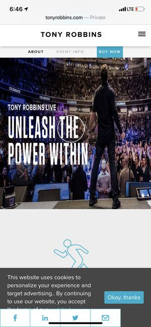 Tony Robbins UPW Ticket!! San Jose March 12-15 2020 for Sale in Scottsdale, AZ