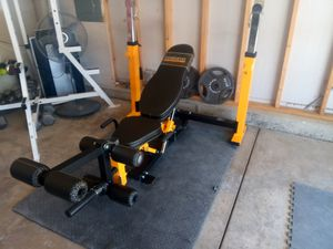 Powertec multi Olympic bench - Like new for Sale in Colorado Springs, CO
