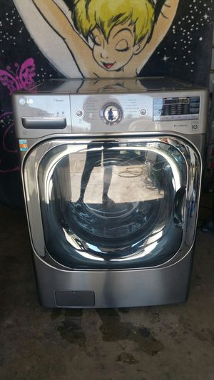 LG washer stainless steel 5.2 currently extra large capacity for Sale in Phoenix, AZ