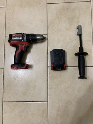 Milwaukee 18V Lithium-Ion Cordless Hammer Driver-Drill,-Drill Batter, fastening and hammer Drilling applications with charger Pick Up Only / No Trade/ for Sale in Lauderhill, FL