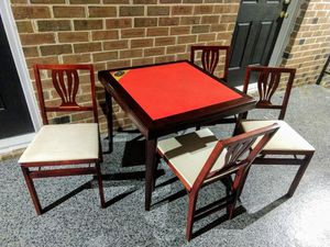 Vintage Stakmore Foldable Table & Chairs for Sale in Raleigh, NC