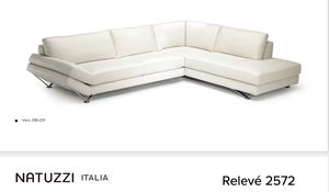 Natuzzi Releve Italia White Leather Couch Sectional for Sale in Portland, OR