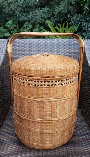 Wicker Bamboo Basket Tote for Sale in San Diego, CA