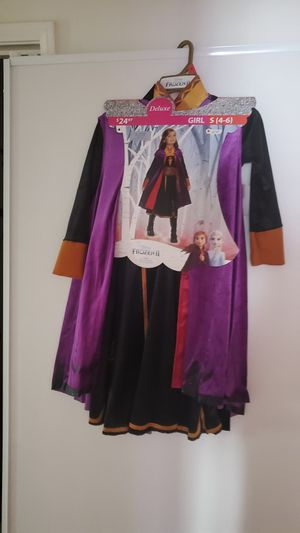 $15 frozen 2 Anna costume sizec4-6 only for Sale in Moreno Valley, CA