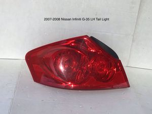 2007-2008 Infiniti G35 Driver and Passenger Side Tail Lights for Sale in Jurupa Valley, CA