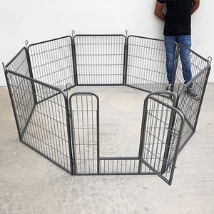 "(NEW) $90 Heavy Duty 32"" Tall x 32"" Wide x 8-Panel Pet Playpen Dog Crate Kennel Exercise Cage Fence for Sale in South El Monte, CA"