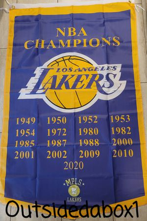 LOS ANGELES LAKERS NBA CHAMPIONS FLAG 3X5 feet FAST 💨 SHIPPING 🚚 for Sale in Montclair, CA
