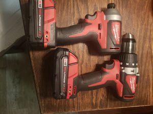 Milwaukee M18 18-Volt Lithium-Ion Brushless Cordless Hammer Drill/Impact Combo Kit (2-Tool ) With 2- 2.0 Batteries for Sale in Riverside, CA