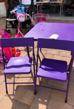 Kids table with 2 chairs - purple or pink you can choose for Sale in Kissimmee, FL