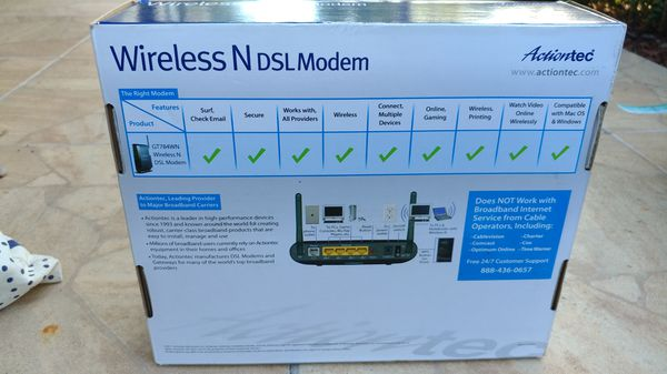 The GT784WN Wireless-N DSL Modem Router is three products in one