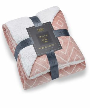 Comfy Sherpa Throw Blankets -Diamond Blush, 50 x 60) for Sale in Quitman, TX