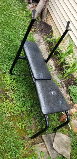 Bench press with weights for Sale in Silver Spring, MD