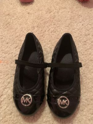 Michael Kors, girl black shoes, Like new condition worn once for Sale in Hiram, GA