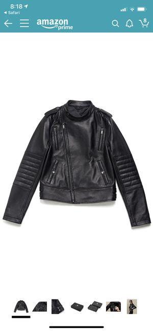 Bolvaint Adelais Lambskin Moto Jacket – Women (L) for Sale in Lynwood, CA