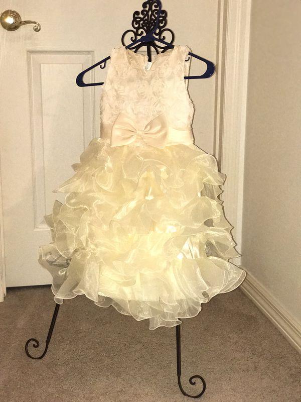 Off white ruffle dress