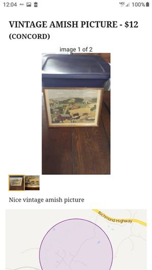 VINTAGE AMISH PICTURE for Sale in Lynchburg, VA