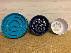 Variety of Dog/Puppy Slow Feeder Bowls (like new) for Sale in Kent, WA