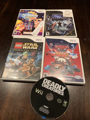 5 Wii games for Sale in SeaTac, WA