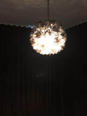 Floral gray pendant light fixture for Sale in Dallas, TX