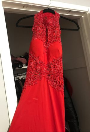 PROM Is coming!!!! I have a beautiful red dress open in the back, see through on the sides ❤️ a perfect junior or senior prom dress or any occasion t for Sale in San Leandro, CA