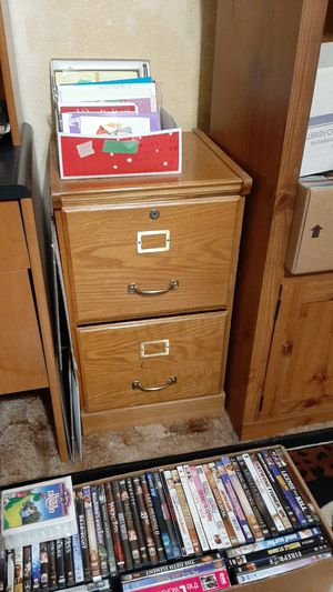 Wooden file cabinet for Sale in Lacey, WA