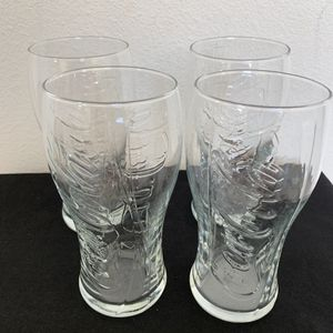 Lot of 4 Coca Cola glasses coke collectible raised logo for Sale in Tustin, CA