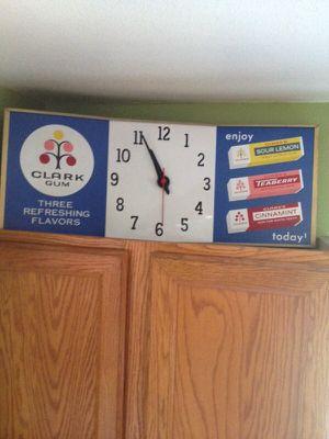 Vintage Antique Clark Gum Advertisement Clock. Works!! for Sale in Centennial, CO