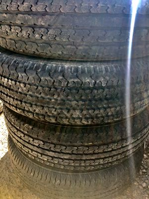 4 trailer tires 225 75 15 for Sale in El Cajon, CA