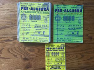 Teaching textbooks pre algebra w/ dvds for Sale in Murfreesboro, TN