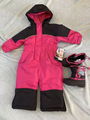 Snowsuit and snow boots for Sale in Belchertown, MA