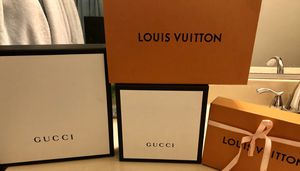 Gucci and Louis Vuitton boxes for Sale in Hawthorne, CA