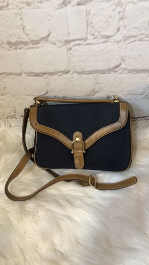 VINTAGE TOLEDANO LEATHER NAVY/TAN CONVERTIBLE PURSE for Sale in Tinley Park, IL